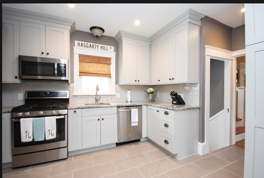 Silver Plate Transitional Kitchen Renovation in Providence, RI
